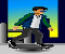 Rooftop Skater Icon