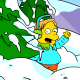 Simpsons Snowball Fight Icon